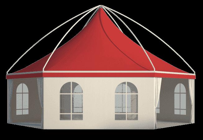 Шестигранные шатры Лого слайдер на главную