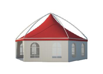 Для временных ангаров, гаражей, складов — Шестигранные шатры Лого главная