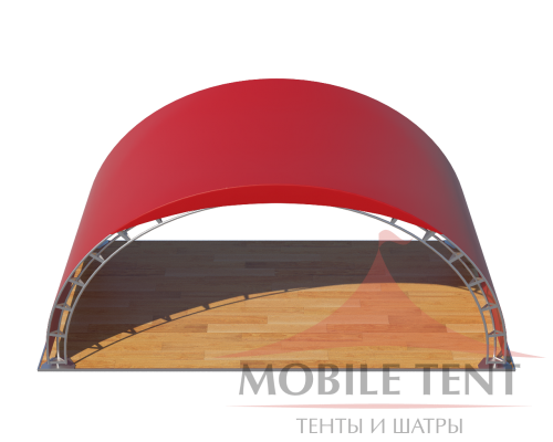 Арочный шатер 10х5 - 50 м² Схема