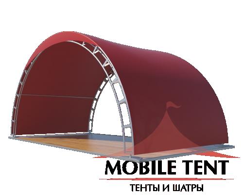 Арочный шатер 10х5 - 50 м² Схема 2
