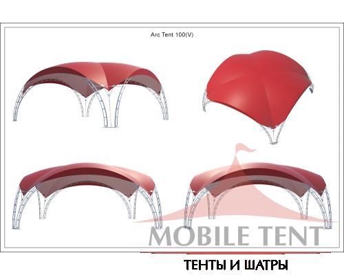 Арочный шатёр 10х10 — 100 м²(V) Схема 5