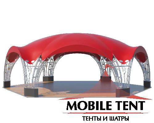 Арочный шатёр 12х10 — 94 м² Схема 1