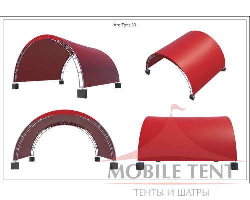 Арочный шатёр 16х16 — 256 м² (B) Схема 6