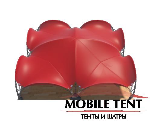 Арочный шатёр 20х20 — 400 м² Схема