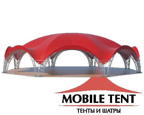 Арочный шатёр 26х24 — 460 м² Схема 1