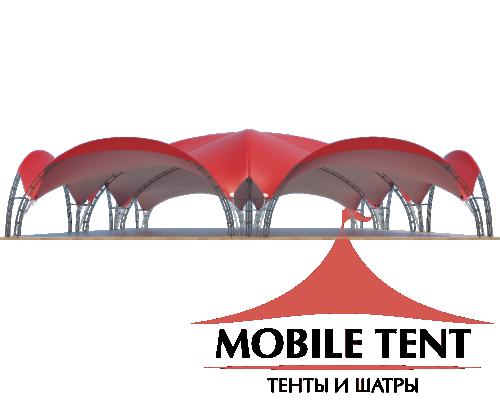 Арочный шатёр 30х20 — 600 м² Схема 2