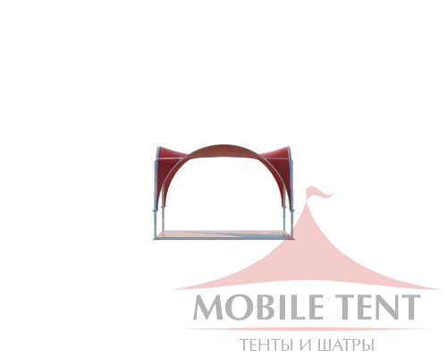 Арочный шатёр 3.5х3.5 — 12,25 м²(V) Схема 2