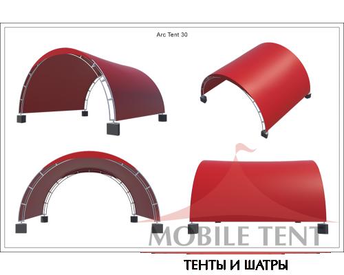 Арочный шатёр 6х5 — 30 м² Схема 6