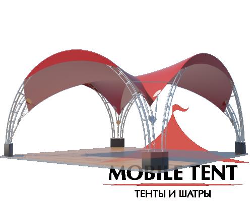 Арочный шатёр 8х8 — 64 м² Схема 2