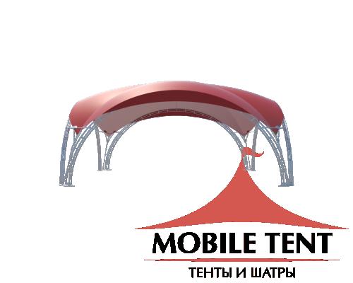 Арочный шатёр 8х8 — 64м²(V) Схема 3