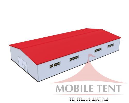 Каркасный ангар 25х50м Схема 1