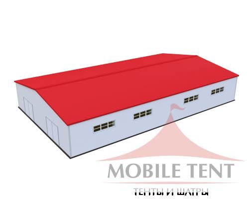 Каркасный ангар 30х50 м Схема 1