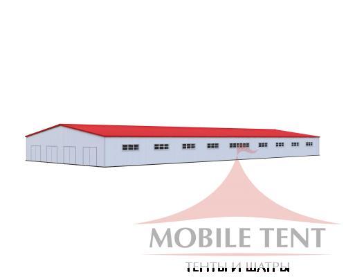 Каркасный ангар 40х100 м Схема