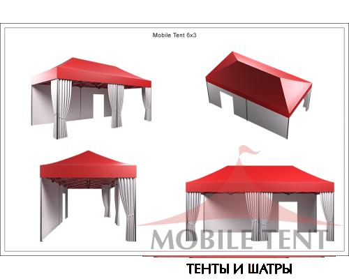 Мобильный шатёр Prof 3х6 Схема 5