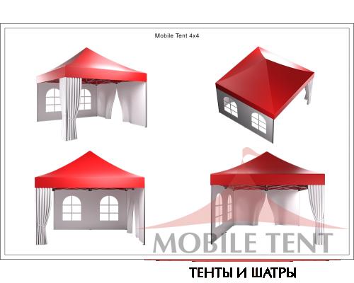 Мобильный шатёр Prof 4х4 Схема 5