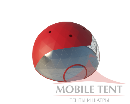 Сферический шатер диаметр 12 м Схема