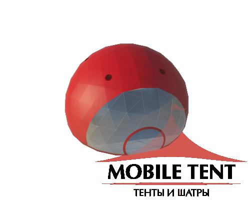 Сферический шатер диаметр 14 м Схема
