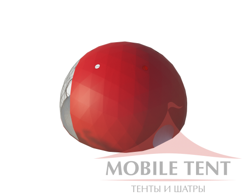 Сферический шатер диаметр 20 м Схема
