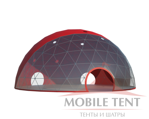 Сферический шатер диаметр 20 м Схема 2