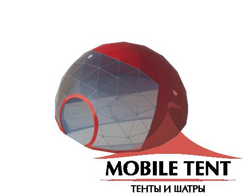 Сферический шатер диаметр 8 м Схема