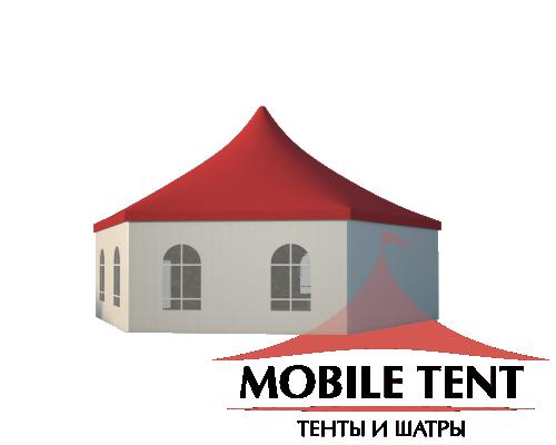 Шестигранный шатёр Римини (Диаметр 12 м) Схема 1