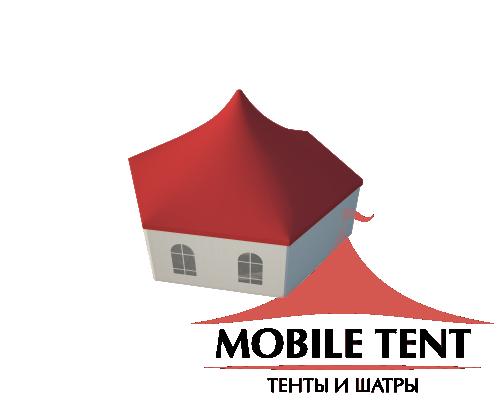 Шестигранный шатёр Стандарт (Диаметр 12 м) Схема
