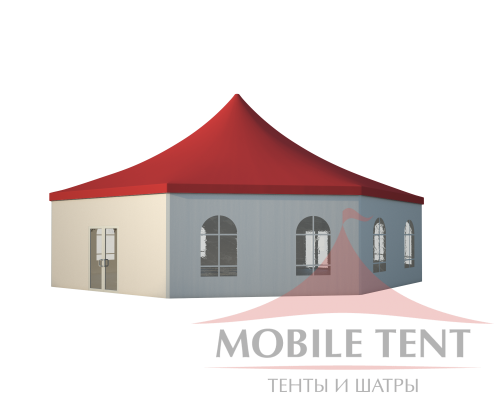 Шестигранный шатёр Стандарт (Диаметр 15 м) Схема 1
