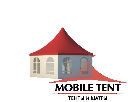 Шестигранный шатёр Стандарт (Диаметр 8 м) Схема 1