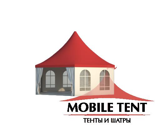 Шестигранный шатёр Стандарт (Диаметр 8 м) Схема 2
