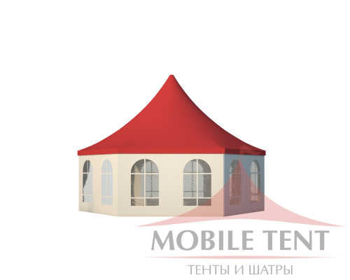 Шестигранный шатёр Стандарт (Диаметр 8 м) Схема 3