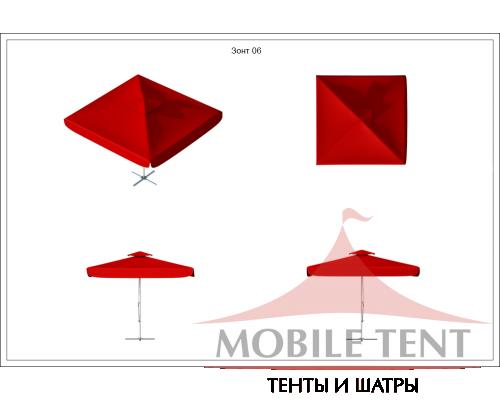 Зонт Premium 4х4 Схема 1
