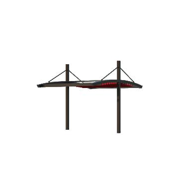 Пергола Двойная Подвесная 8х10 Схема