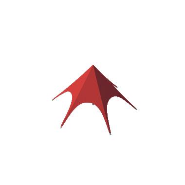 Шатёр Звезда (Диаметр 10 м) Схема
