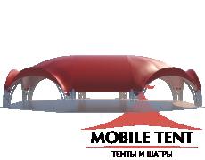 Арочный шатёр 18х15 — 241 м² Схема 1