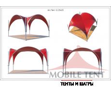 Арочный шатёр 3,5х3,5 — 12,25 м² Схема 5