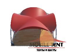Арочный шатёр 8х8 — 64 м² Схема