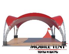 Арочный шатёр 8х8 — 64 м² Схема 1
