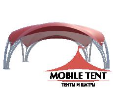 Арочный шатёр 8х8 — 64м²(V) Схема 1