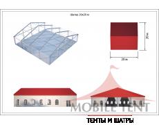 Классический шатёр 20х20 Схема 5
