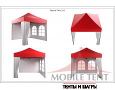 Быстросборные шатры трансформеры Prof 3х3 Схема 4