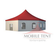 Шестигранный шатёр Римини (Диаметр 15 м) Схема 1