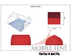Тентовый ангар 10х10 Схема 4