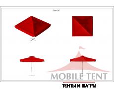 Зонт уличный для кафе Premium 3х3 Схема 1