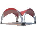 Арочный шатёр 10х10 — 100 м² Схема 2