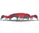 Арочный шатёр 25х20 — 500 м² Схема 3