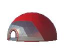 Сферический шатер диаметр 16 м Схема 1