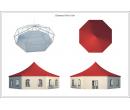 Шестигранный шатёр Стандарт (Диаметр 15 м) Схема 5