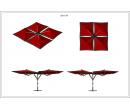 Зонт Quatro 4х4 Схема 1